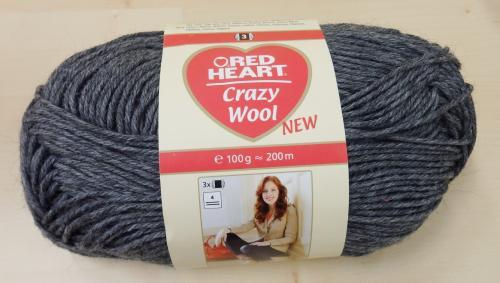 Crazy Wool neulelanka 100g/200m, Red Heart